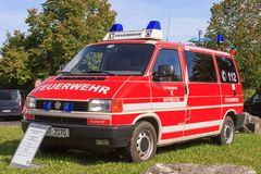 Open day of german firefighters in Bayreuth (Bavaria) Royalty Free Stock Photo