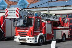 Open day of german firefighters in Bayreuth (Bavaria) Royalty Free Stock Photos