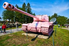 Open Day Show in Military Museum in Lesany stock photography