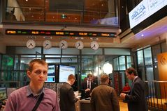 Open day on the Warsaw Stock Exchange Royalty Free Stock Photography