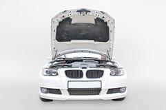 Open de Bonnet van BMW 335i royalty-vrije stock afbeeldingen