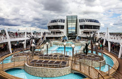 Open deck of cruise liner Splendida. Stock Photo
