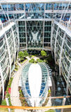 Open Deck on Cruise Ship Deck. Public garden on the open deck of a luxury cruise ship Stock Image