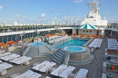 Open Deck Onboard Crystal Serenity Cruise Ship Stock Photo