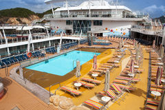 Open deck on a passenger cruise ship Stock Photo