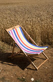 Open deckchair in the country Royalty Free Stock Photos