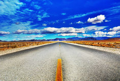 Open Desert Highway Royalty Free Stock Photo