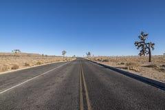 Open desert road Stock Photo