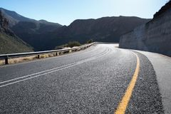 Open tar road in the Mountains Stock Images