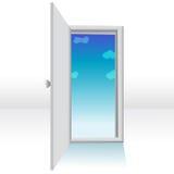 Open deur stock illustratie