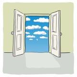 Open deur Stock Foto's