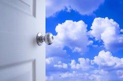 Open deur aan de hemel Stock Afbeeldingen