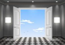 Open deur in de hemel Royalty-vrije Stock Afbeeldingen