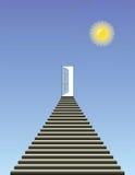 Open deur in hemel vector illustratie