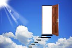 Open deur in hemel Royalty-vrije Stock Afbeelding