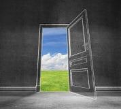 Open deur in hemel Royalty-vrije Stock Foto