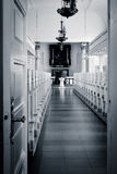 Open deur - onthaal aan de kerk (Skagen, Denemarken) Royalty-vrije Stock Afbeelding