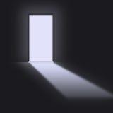 Open deuropening vector illustratie