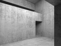 Open deuropening in grijze concrete muren, 3d illustratie Royalty-vrije Stock Afbeelding