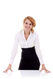 Open for dialogue business woman Stock Photo