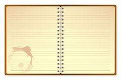 Open Diary. Illustration of open diary on isolated white background Royalty Free Stock Images