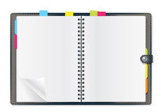 Open diary. On white background Stock Image