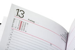 Open diary Royalty Free Stock Photo