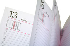 Open diary Royalty Free Stock Photography
