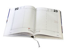 Open diary Royalty Free Stock Images