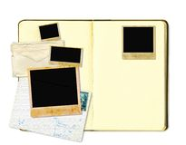 Open diary book or photo album Stock Photos