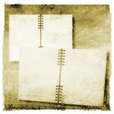 Open diary or photo album in vintage style Stock Image
