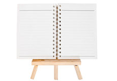 Open diary ring binder on small tripod for painting. isolated on Stock Images