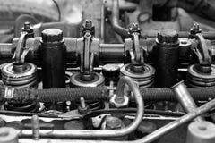 Open diesel truck engine Stock Photos