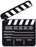 Open Digital Movie Clapboard Stock Photo
