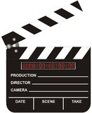 Open Digital Movie Clapboard. Isolated on white background Stock Image