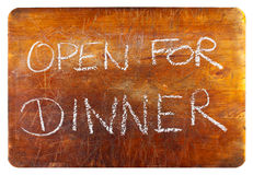 Open for dinner Stock Image