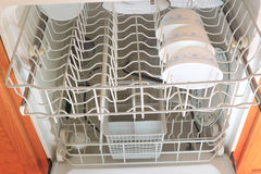 Dish Washer Inside Stock Photo