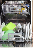 Open dishwasher. With clean dishes royalty free stock photo