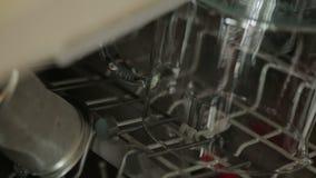 Open dishwasher stock video