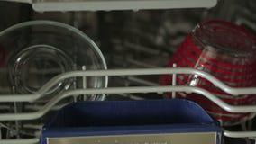 Open dishwasher stock footage