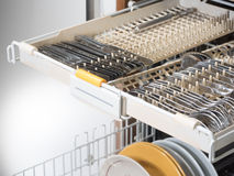 Open dishwasher Royalty Free Stock Photos