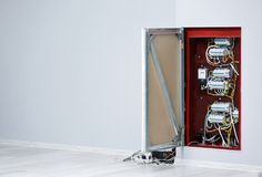 Open distribution board integrated Royalty Free Stock Photography