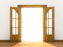 Open door. Conceptual image - a way to success Royalty Free Stock Image