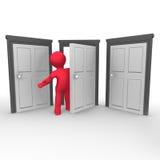 The Open Door stock illustration