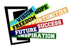 Open door. Open house door  illustration; opportunities, new beginning, launch, success and freedom concepts Royalty Free Stock Image