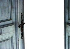 Open door. Old used door in retro look is opened Stock Photos