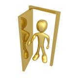 Open the door vector illustration