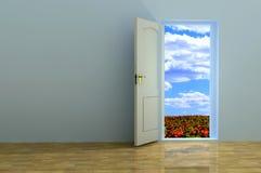 Open the door. Stock Image