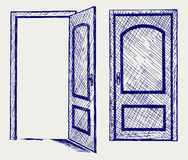 Open door. Doodle style. Vector Royalty Free Stock Photography