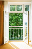 Open door. At a motel room in vienna Stock Images